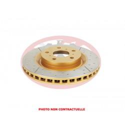 DBA disc brake - Street Series - X-GOLD Cross-Drilled - Slotted - 257x36x22