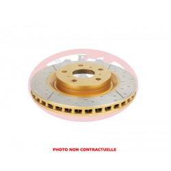 DBA front disc brake - Street Series - X-GOLD Cross-Drilled - Slotted - 300x40.3x27
