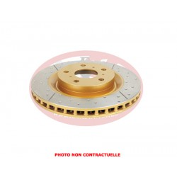 DBA front disc brake - Street Series - X-GOLD Cross-Drilled - Slotted - 280x49x28mm (Unit) NO CE