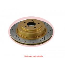 Brake disc FRONT DBA - LR Freelander II (01/06) - Drilled / grooved - 277mm (Unit) NO CE