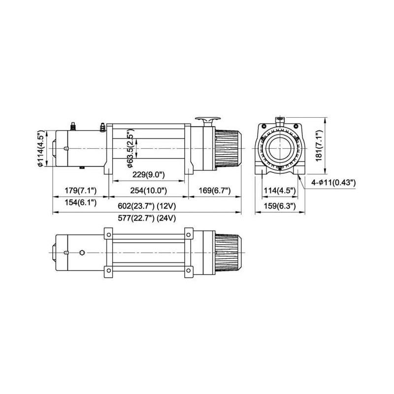 treuil come up dv9 12v 4 6 ch    4082kg    c u00e2ble acier 8 3mm
