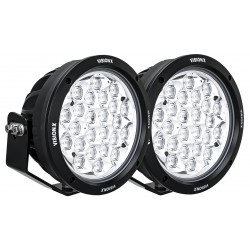 """PAIR OF 8.7"""" 24 LED LIGHT CANNON GEN 2 INCLUDING HARNESS USING DTP CONNECTOR 9-32V DC"""