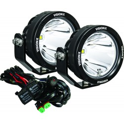 """PAIR OF 4.7"""" SINGLE SOURCE 40 WATT LIGHT CANNON GEN 2 INCLUDING HARNESS USING DT CONNECTORS 9-32V DC"""