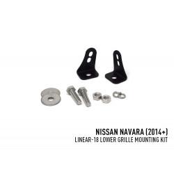 LAZER - Nissan Navara (2014+) - Kit de fixation grille inférieur (for Linear-18)