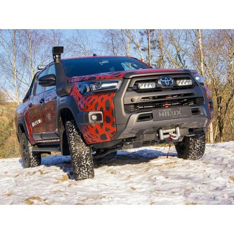 Toyota Hilux Invincible-X (2020+) - Grille Mount Kit (includes: 2x Triple-R 750 Elite, 1x Grille Mount Brackets, 1x 2L-LP-120)